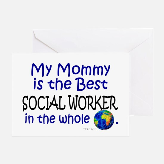 Best Social Worker In The World (Mommy) Greeting C