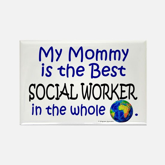 Best Social Worker In The World (Mommy) Rectangle