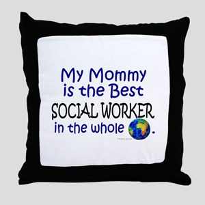 Best Social Worker In The World (Mommy) Throw Pill