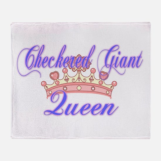 Checkered Giant Queen Throw Blanket