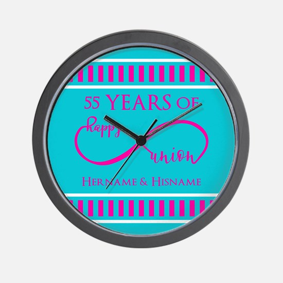 Personalized Anniversary Infinite Happy Wall Clock