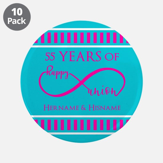"""Personalized Anniversary Inf 3.5"""" Button (10 pack)"""