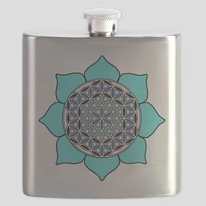 Lotus Blue2 Flask