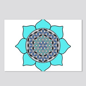 Lotus Blue2 Postcards (Package of 8)