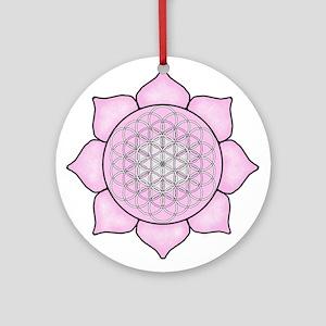 Lotus Pink Round Ornament
