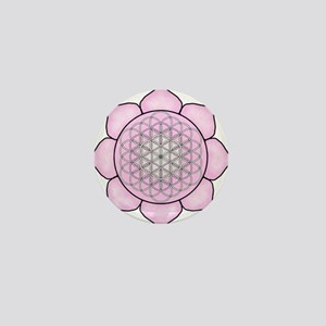 Lotus Pink Mini Button