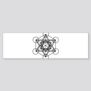 Metatron Cube Sticker (Bumper)