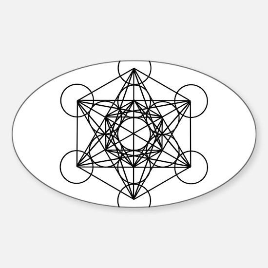 Metatron Cube Sticker (Oval)