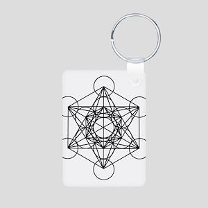 Metatron Cube Aluminum Photo Keychain