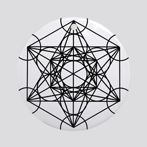 Metatron Cube Round Ornament