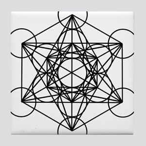 Metatron Cube Tile Coaster