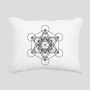 Metatron Cube Rectangular Canvas Pillow