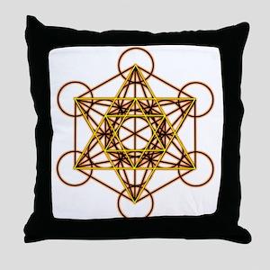 MetatronOrStar Throw Pillow