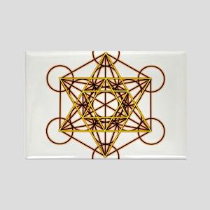 MetatronOrStar Rectangle Magnet