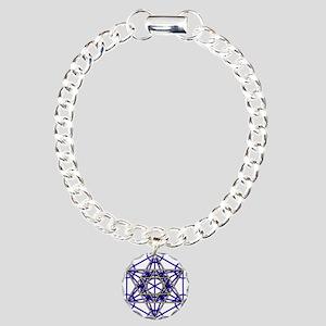 MetatronBlueStar Charm Bracelet, One Charm