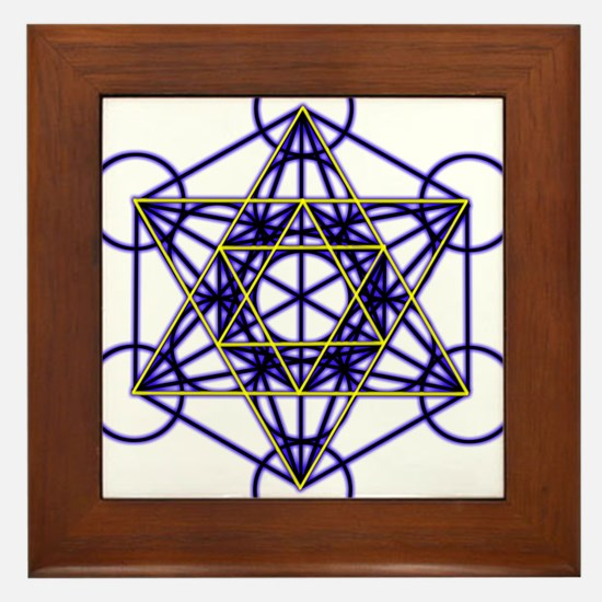 MetatronBlueStar Framed Tile