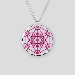 MetatronVGlow Necklace Circle Charm