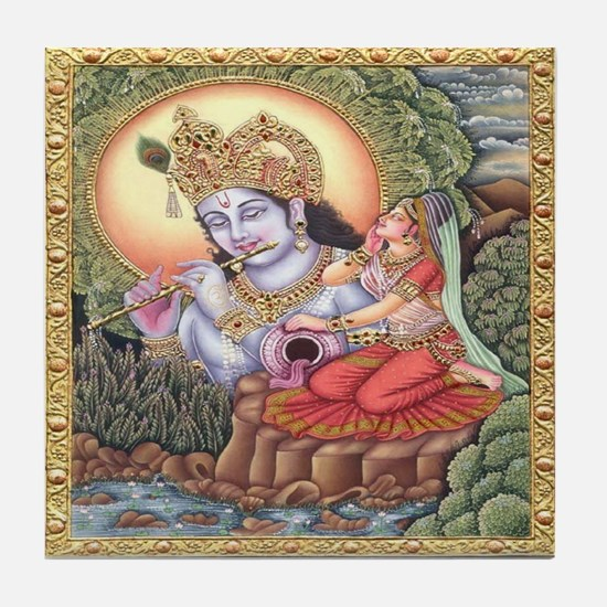 Vision of Krishna Tile Coaster