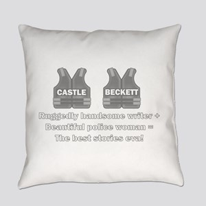 Castle and Beckett Everyday Pillow