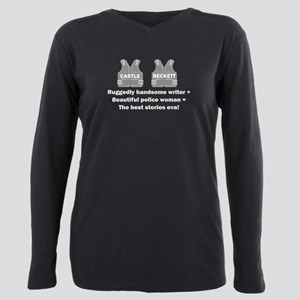 Castle and Beckett Plus Size Long Sleeve Tee