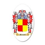 Manvell 35x21 Oval Wall Decal