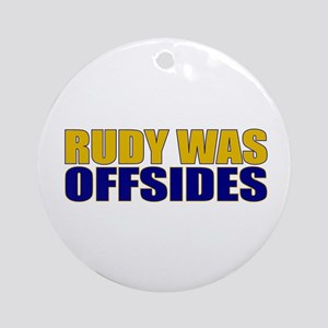 Rudy Offsides Ornament (Round)