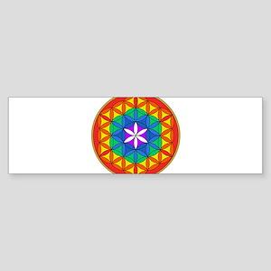 Flower of Life Chakra5 Sticker (Bumper)