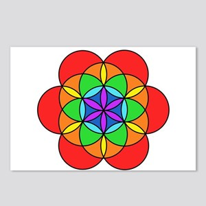 Seven Chakra Seed of Life Postcards (Package of 8)