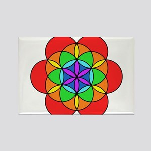 Seven Chakra Seed of Life Rectangle Magnet