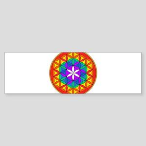 Flower of Life Chakra4 Sticker (Bumper)