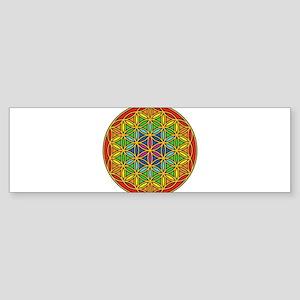 Flower of Life Chakra1 Sticker (Bumper)