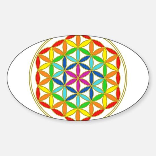 Flower of Life Chakra Sticker (Oval)