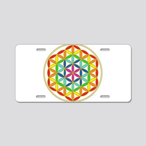 Flower of Life Chakra Aluminum License Plate