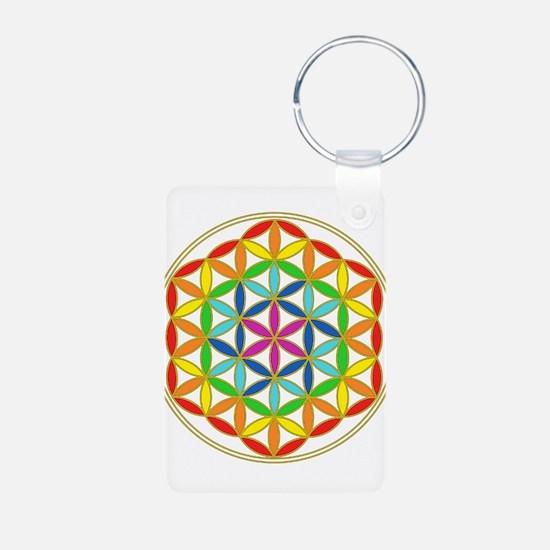 Flower of Life Chakra Keychains