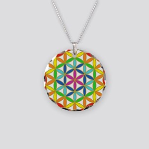 Flower of Life Chakra Necklace Circle Charm