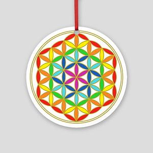 Flower of Life Chakra Round Ornament