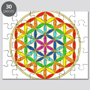 Flower of Life Chakra Puzzle