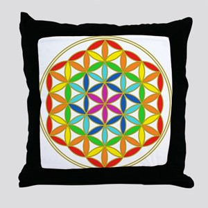 Flower of Life Chakra Throw Pillow