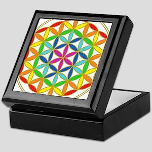 Flower of Life Chakra Keepsake Box