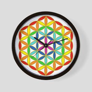 Flower of Life Chakra Wall Clock