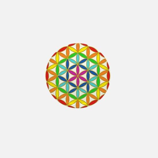 Flower of Life Chakra Mini Button