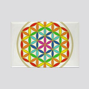 Flower of Life Chakra Rectangle Magnet