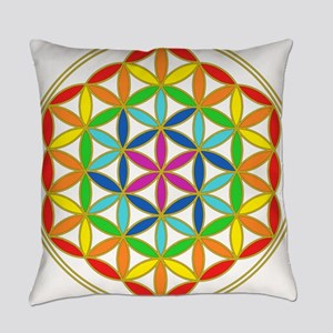Flower of Life Chakra Everyday Pillow