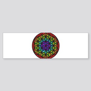 Flower of Life Chakra2 Sticker (Bumper)