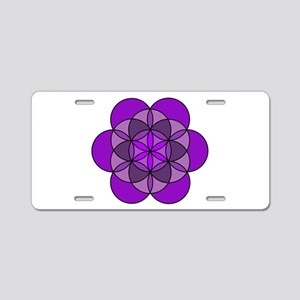 Crown Seed of Life Aluminum License Plate