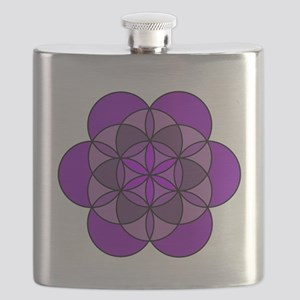 Crown Seed of Life Flask