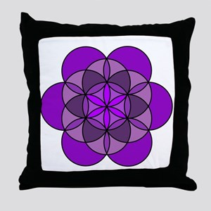 Crown Seed of Life Throw Pillow