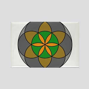 Seed of Life Earth 4 Rectangle Magnet