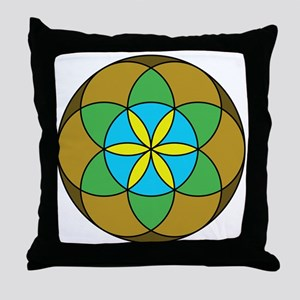 Seed of Life Earth3 Throw Pillow