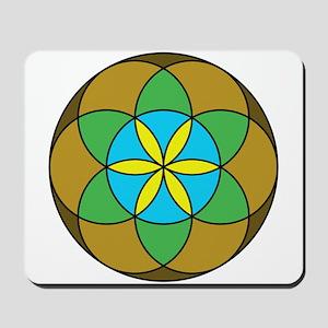 Seed of Life Earth3 Mousepad